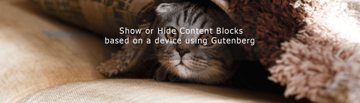 Show or Hide Content Blocks based on a device using Gutenberg
