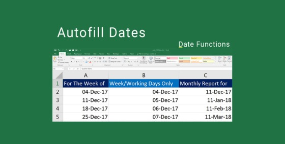 How to Autofill Dates in Excel