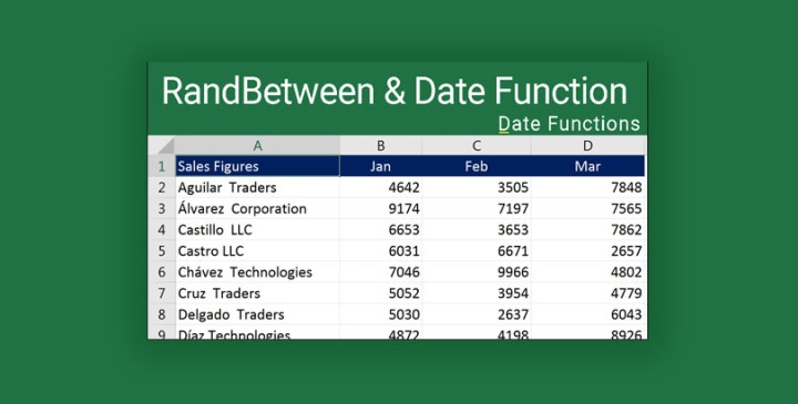 Generate Random Dates in Excel 2016