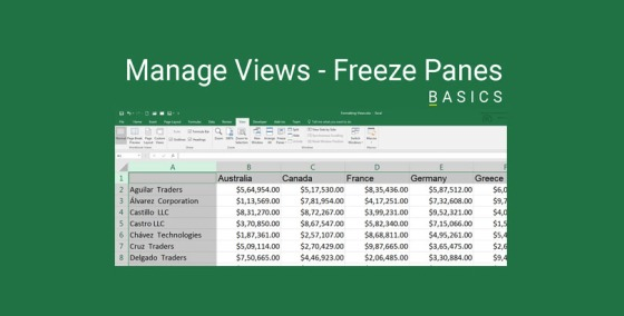 Excel Freeze Panes Demonstration