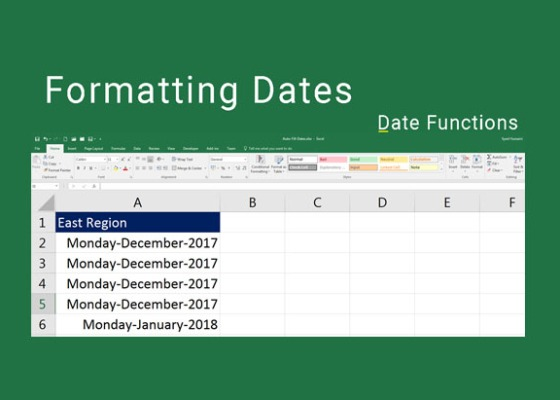 Formatting Dates in Excel
