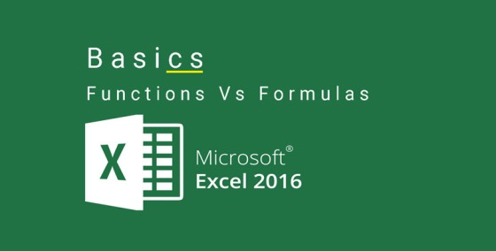 Difference between Excel Functions and Formulas