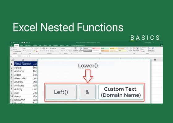 Excel Nested Functions Demo