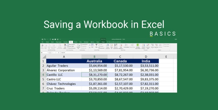 Saving Excel Workbooks