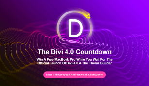 Divi 4.0 - Win A Free MacBook Pro