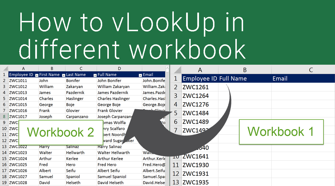How to vLookup in a different workbook in Excel