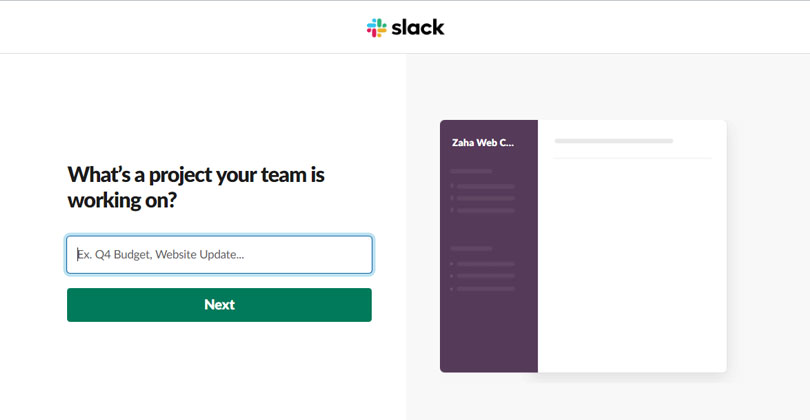 Create a Workspace in Slack