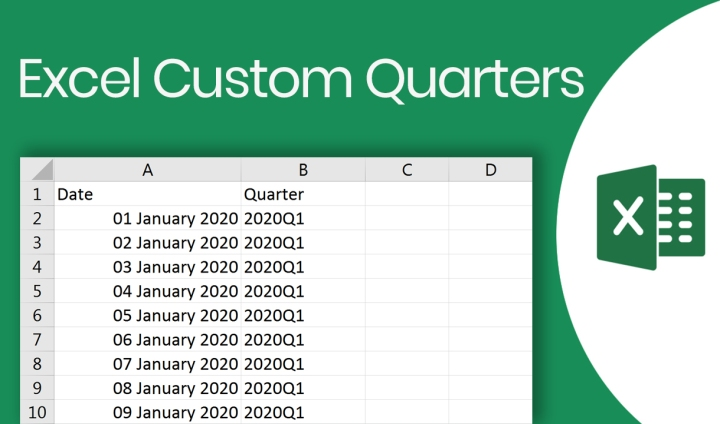 How to create Excel Custom Quarters